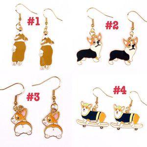 Bundle of 5 Earrings Anime Cartoon Kawaii Animals
